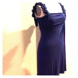Esley purple knit dress.